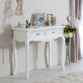 Elise White Range - Two Drawer Console Table
