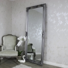 Extra, Extra Large Ornate Antique Silver Full Length Wall/Floor Mirror
