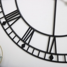 Extra Large Black Metal Skeleton Clock 100cm x 100cm