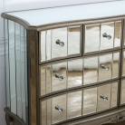 Extra Large Mirrored Chest of Drawers - Tiffany Range DAMAGED SECOND 6901