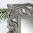 Extra Large Ornate Grey Wall / Floor / Leaner Mirror 91cm x 182cm