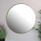 Extra Large Round Gold Wall Mirror 120cm x 120cm