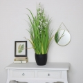 Faux Grass with Flowers