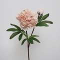 Faux Peach Pink Peony Rose