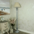 Floor Standing Lamp - Grey Lamp with Shade