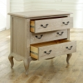 French Style 3 Drawer Chest of Drawers - Brigitte Range SECOND 7088