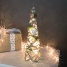 Frosted LED Cone Christmas Tree