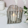 Glass Heart Candle Holder - Large