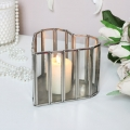 Glass Heart Candle Holder - Small