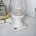 Glass Hurricane Candle Lantern