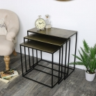 Gold and Black Nest of Tables