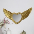 Gold Angel Wing Wall Mirror