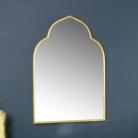 Gold Arched Wall Mirror 60cm x 88cm