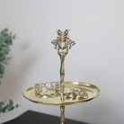 Gold Bumblebee Two Tier Cake Stand