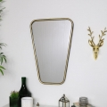 Gold Distressed Curved Wall Mirror 41cm x 61cm