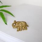 Gold Elephant Drawer Knob