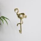 Gold Flamingo Wall Hook