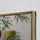 Gold Framed Rectangle Wall Mirror 80cm x 37cm