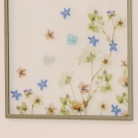 Gold & Glass Floral Wall Plaque