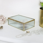 Gold Glass Mirrored Jewellery Box