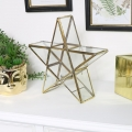 Gold Glass Star Candle Holder