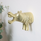 Gold Hippo Wall Hook