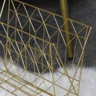Gold Metal Wire Magazine Rack