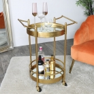 Gold Mirrored Drinks Trolley