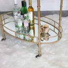 Gold Mirrored Oval Drinks Trolley
