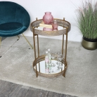 Gold Mirrored Vintage Side Table