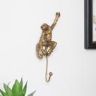 Gold Hanging Monkey Wall Hook
