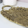 Gold Monstera Leaf Tray