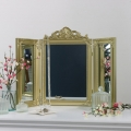 Gold Ornate Dressing Table Triple Mirror