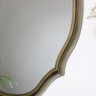 Gold Oval Shaped Wall Mirror 45cm x 64cm