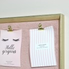 Gold & Pink Furry Memo Board