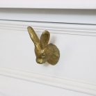 Gold Rabbit Head Drawer Knob