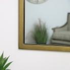 Gold Rectangle Wall Mirror 50cm x 75cm