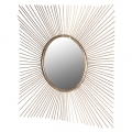Gold Square Sunburst Mirror