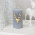 Gold Stag Candle Pin