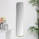 Gold Thin Framed Slim Wall Mirror