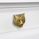 Gold Tiger Head Drawer Knob