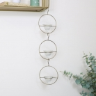 Gold Triple Circle Hanging Tealight Holder