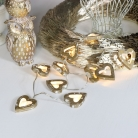 Gold Wooden Heart LED Fairy Lights