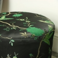 Green & Black Barrel Stool
