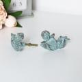 Green Cherub Door Knobs - Pair