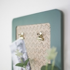 Green Clipboard wall mounted letter rack  with Faux Eucalyptus