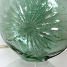 Green Glass Daisy Vase