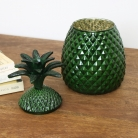 Green Glass Pineapple Jar