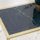 Green & Gold Marble Side Table