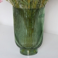 Green Hurricane Glass Vase